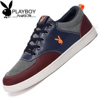 PLAYBOY tren baru sepatu sepatu musim gugur sepatu pria (Abu-abu gelap)