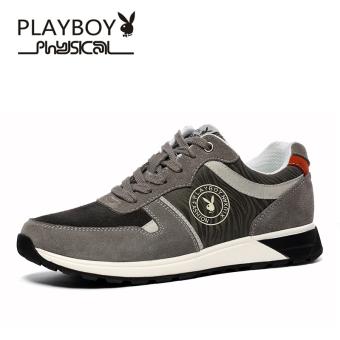 Beli PLAYBOY Tren Musim Dingin Pria Kasual Sepatu Olahraga Sepatu Pria (Model  Pria + Abu-abu) Online 6f42387fd5