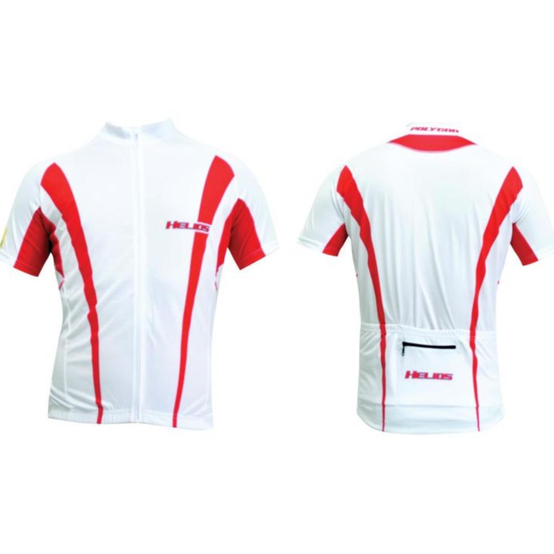 Flash Sale Polygon Jersey Helios Short Sleeves - Putih Merah