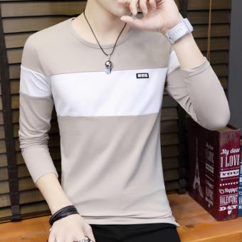 Gebinzuol Kemeja Pria Lengan Panjang Katun Tulen Ukuran Ekstra Besar Source · Gambar Pria Korea Slim lengan panjang sweater Khaki Merk OEM