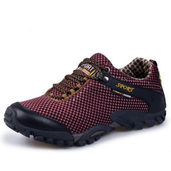 Pria Kulit Asli Olahraga Sepatu Hiking Sepatu Gunung Climbing Sepatu Trekking Sepatu Men's Genuine Leather Outdoor Sports Shoes Super Durable Hiking Shoes Light Mountain Climbing Shoes Trekking Shoes Travelling Shoes