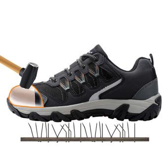 Pria Modyf baja ujung sepatu keselamatan kerja sepatu kasualreflektif sejuk kolam sepatu bot tusuk bukti perlindungan