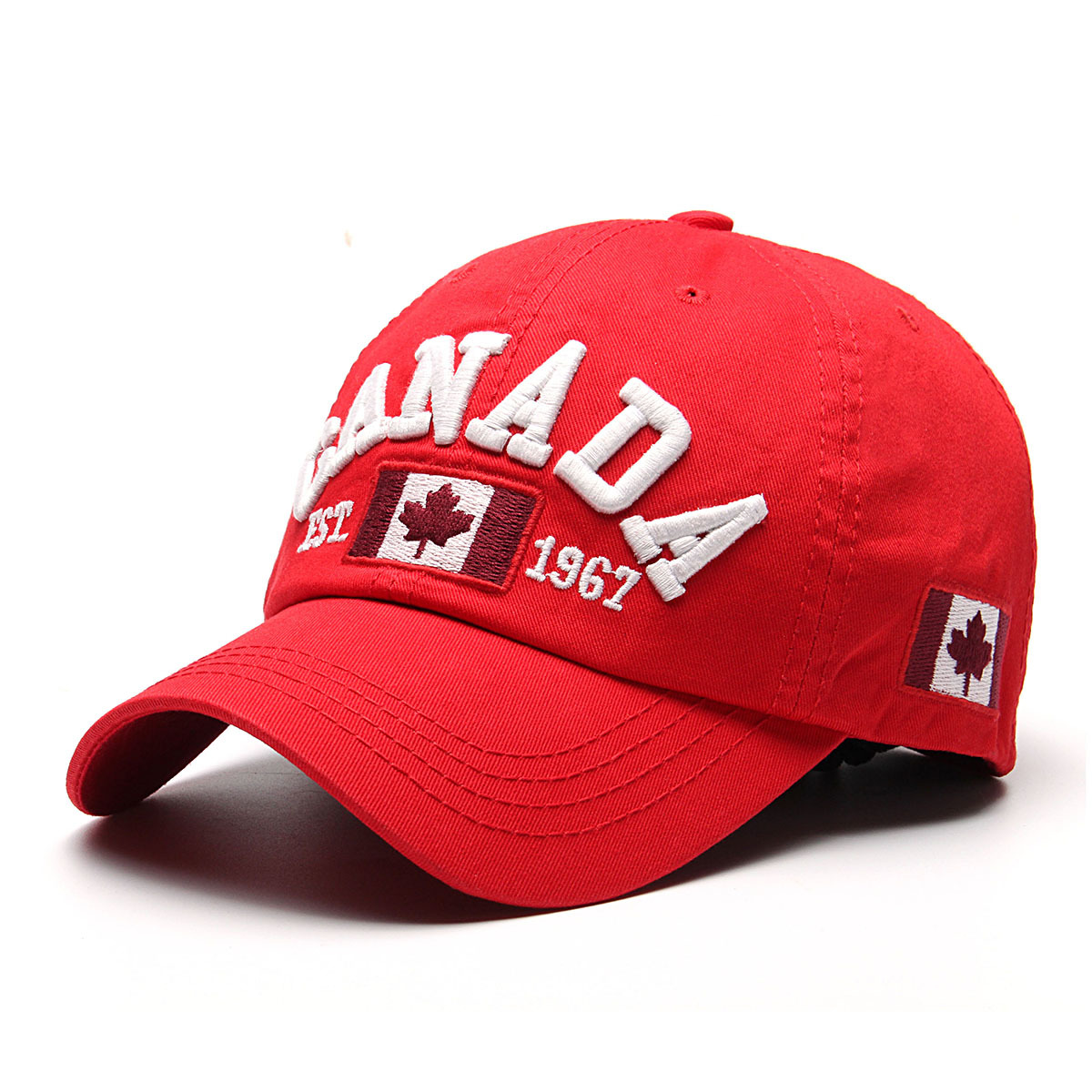 Uinn Adapula Yong Polo Fashion Gaya Orang Topi Bola Baseball Cap Polos Mursidah Pria Wanita Kanada Bendera Sandaran Adjuatable Olahraga Golf Hip Hop Hat