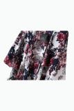 ... Cetak Jaket Kain Sutera Tipis Kimono Cardigan Warnawarni - 4