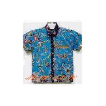 PROMO Kemeja Hem Atasan Baju Batik Anak Laki Laki 1035 MURAH - 5