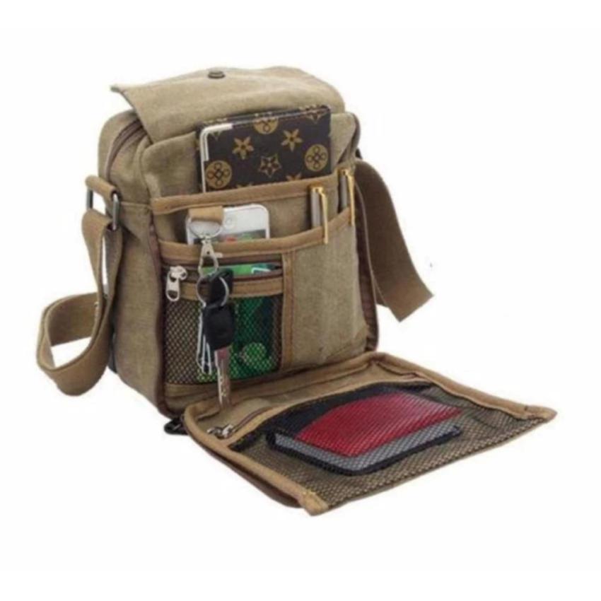 Murah Tas Slempang Import Uncle Star Kanvas Militer Slempang Messenger Shoulder Bag