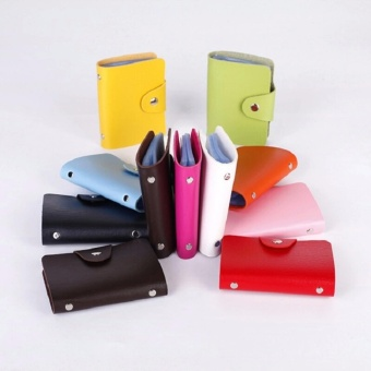 PROMO!!!Dompet Kartu Mini IMPORT isi 24 slot Leather SC 012 GREEN)
