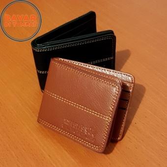 PU Leather Dompet Pria Fashion Wallet 5 Inchi 8828-13 Casual Import - Khaki