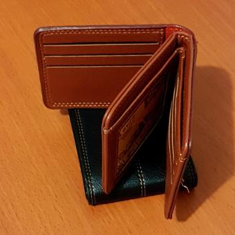 PU Leather Dompet Pria Fashion Wallet 5 Inchi 8828-13 Import -