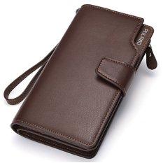 PULABO Dompet Pria Men Long Wallet Zipper Credit Cards Mobile Phone Holder
