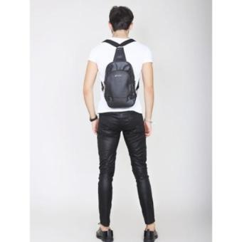 Pulcher Zayn (3 in 1 Bags) Black - Tas Slempang - Backpack - TasPuggung