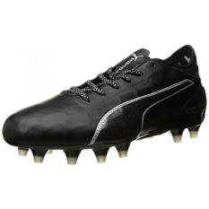 PUMA Mens Evotouch 2 FG Soccer Shoe, Puma Black-Puma Black-Puma Silver, US - intl