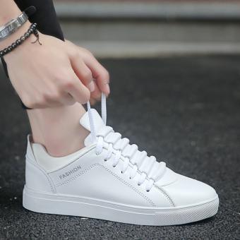 Putih baru flat shoes bernapas kebugaran kasual sepatu sepatu pria (Putih)