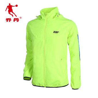 Qiaodan laki-laki musim semi dan musim gugur baru jas pakaian jogging (XFD1362208 neon hijau/putih hanya pakaian)