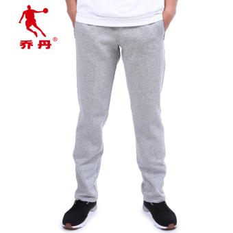 Qiaodan Xkl4346112 Baru Renda Lurus Merajut Celana Panjang Pakaian Pria Olahraga Celana (Cahaya bunga abu-abu) (Cahaya bunga abu-abu)