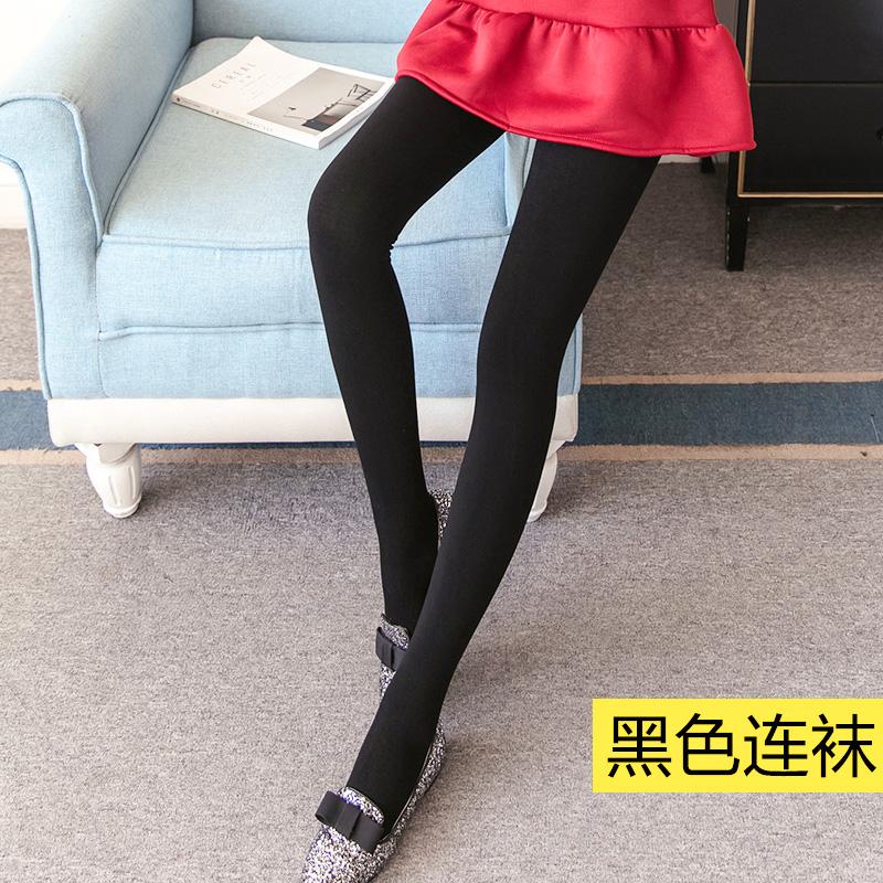 Flash Sale Qiudong perempuan tebal pakaian luar yard besar celana hangat ditambah legging beludru (Hitam