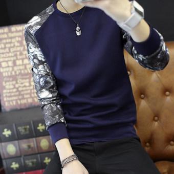 Qiuyi anak laki-laki pada pria t-shirt penuh kasih kemeja (W36 biru