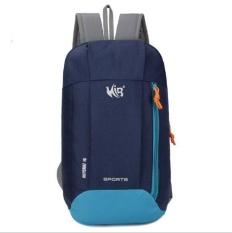 Qizhef women's Nylon Backpack waterproof outdoor sports polyester climbing bag(dark blue) - intl