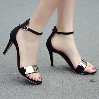 Queen: High Heels Black KAY001 - Hitam