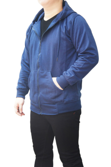 Quincy Jacket Zipper Hoodie Man - Navy - 2