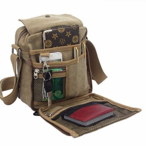 Bisnis Kasual Pria Mochila. Source · QuincyLabel Men Vintage Canvas Multifunction Travel .
