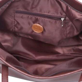 QuincyLabel Tas Wanita Women Fashion PU Tote Leather Handbags Shoulder Bags Brown 4 .