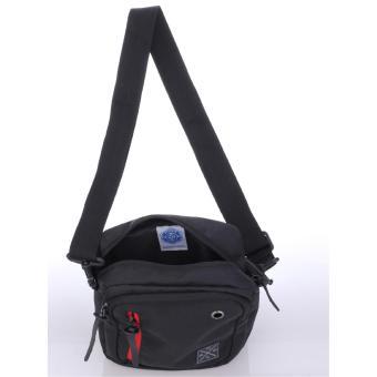 Raindoz Tas Selempang Samping Waist Bag Best Seller RDN026 - Hitam - 3 .