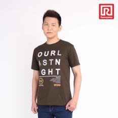 Ramayana - Super R - Kaos T-Shirt Pria Our Last Night Oblong  Tetoron Cotton Hijau Tua – Super R (07972533)