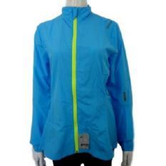 Rebook jaket senam Wanita / jaket olahraga Wanita RE63664-Blu, S - Biru