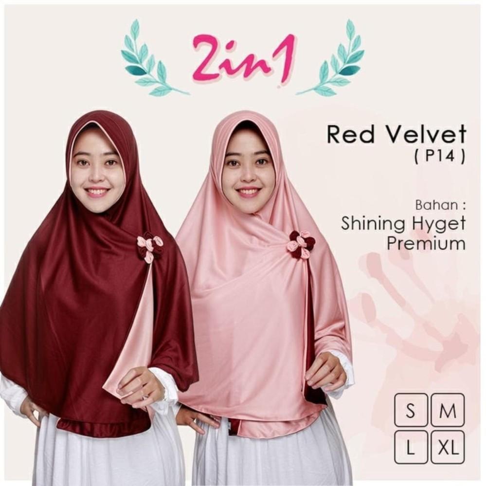 Pastimaksi Muslim Fashion Beli Red Velvet Jilbab Instan Pricilla Bolak Balik