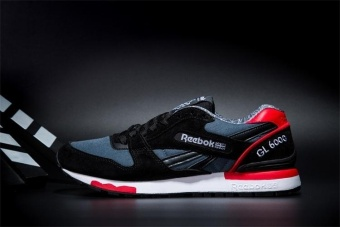 Reebok Mens Casual Shoes GL6000 Sports Shoes Running Shoes Reebok Classical Walking Shoes (black red) - intl