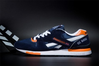 Reebok Mens Casual Shoes GL6000 Sports Shoes Running Shoes Reebok Classical Walking Shoes (darkblue orange) - intl