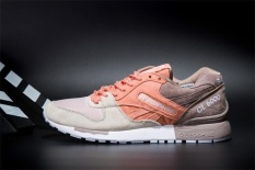Reebok Sepatu Kasual Wanita GL6000 Olahraga Sepatu Sepatu Lari Reebok Klasik Berjalan Sepatu (Orange Grey Tan)