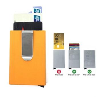 RFID Blocking Automatic Credit Card Holder Business Card Holder Magic Pop Up Aluminum Wallet Money Clip
