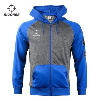 Harga Saya RIGORER Baru Musim Dingin Model Lengan Panjang Zipper Berkerudung Kardigan Kebugaran Kaos Sweater (