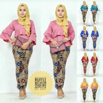 RnB Diamond Ruffle ~ Rok Lilit Batik ~ Blouse dan Rok Lilit Batik