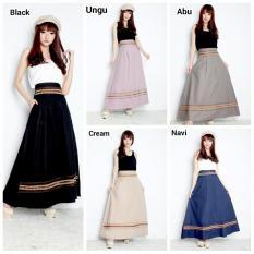 Rok maxi payung panjang wanita jumbo long skirt .