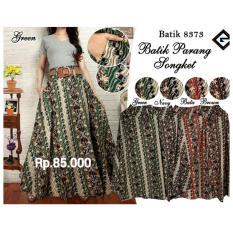 Rok payung batik parang songket > NHJ fashion > Warna : merah , navy , brown , green