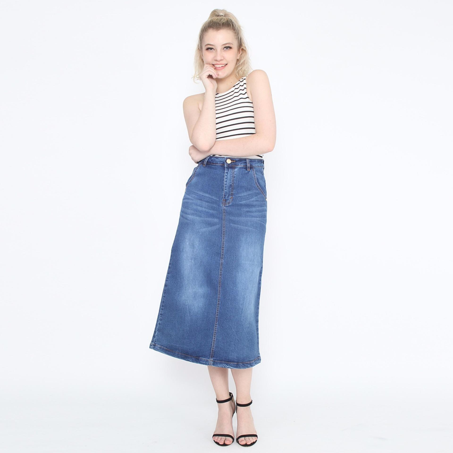 Rok Span Panjang Jeans / Rok Jeans / Rok Span CW 820 RY 101 S