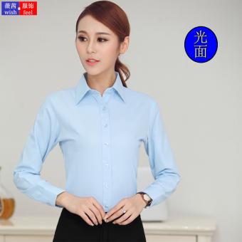 Gambar Rumah Korea katun warna solid perempuan lengan panjang karir overall kemeja putih (Warna coklat