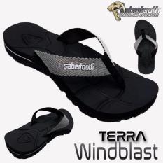 Sabertooth Sandal Gunung / Traventure Terra Windblast Size 32 s/d 47 [Hitam Tali Abu]