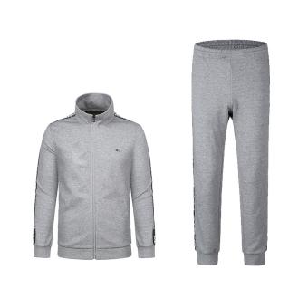 Harga SAIQI pria dan musim gugur baru sweter kardigan olahraga (Model laki-laki-linen abu-abu) Murah