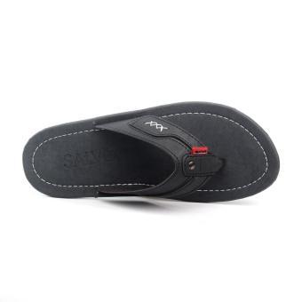 Salvo sandal kasual ZR-Hitam - 4