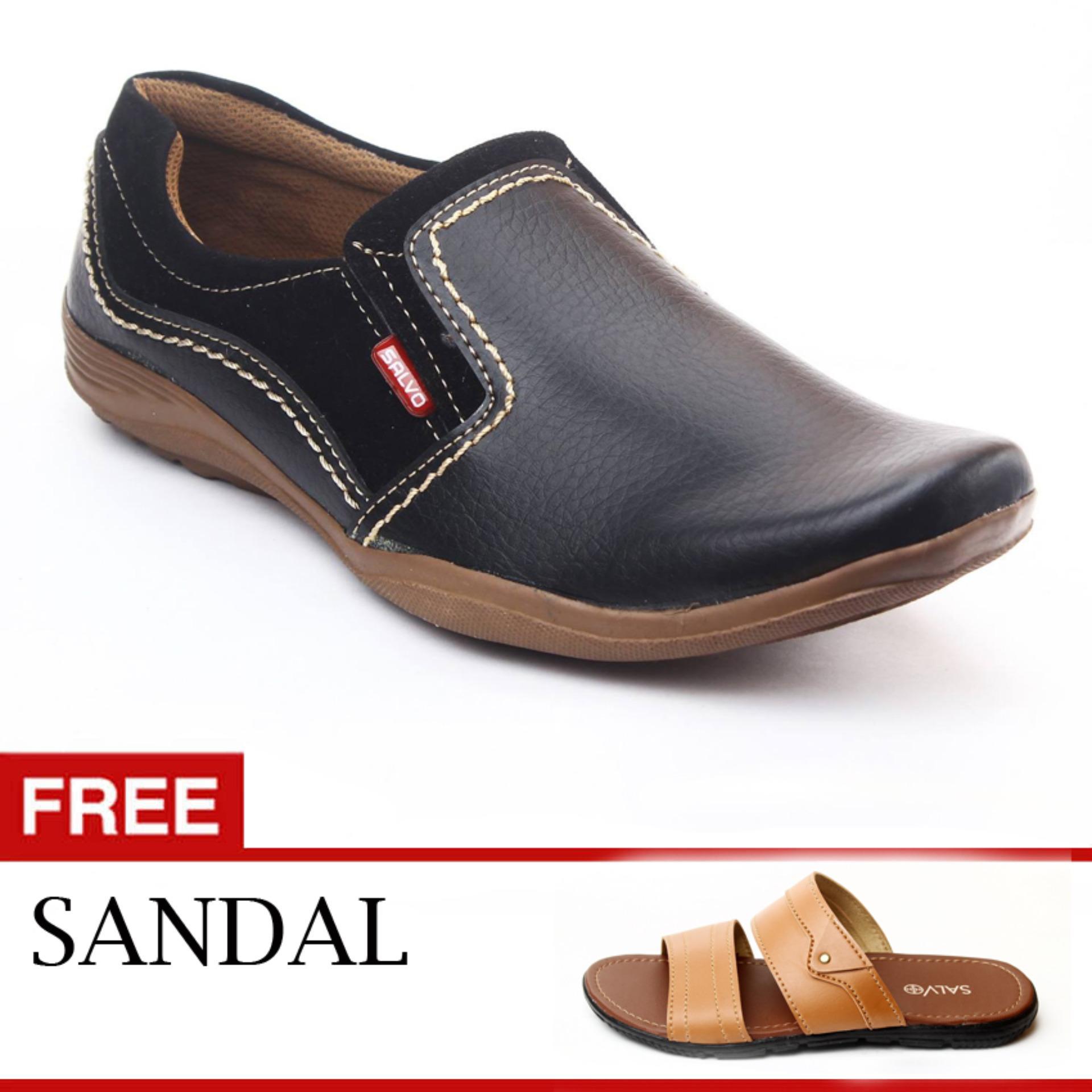 ... Salvo sepatu loafer BK01 hitam free sandal L01 tan ...