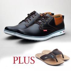Salvo sepatu RK01 hitam free ZR coklat