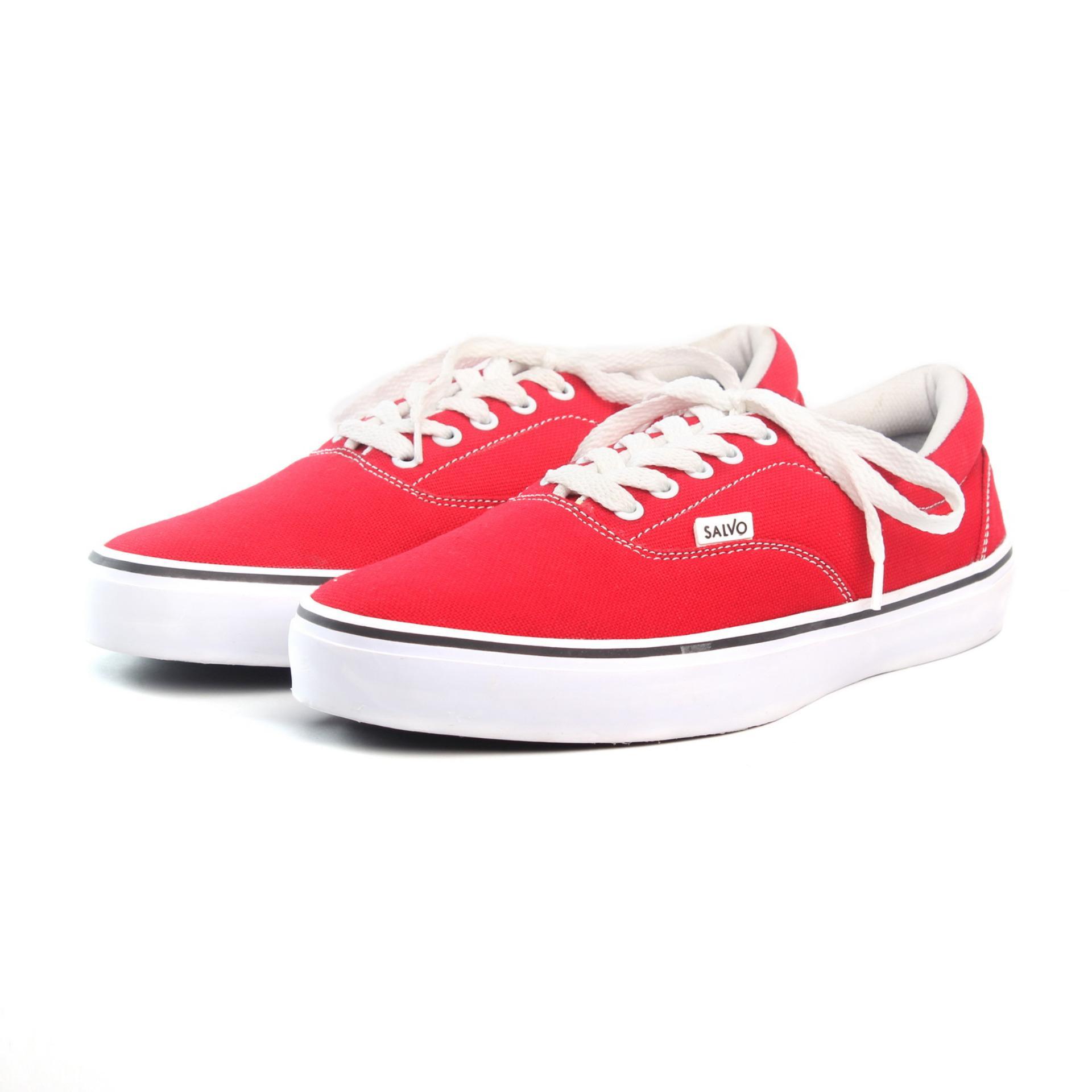 Perbandingan harga Salvo sepatu sneaker pria A03-Merah Harga baru c55fe7ac11
