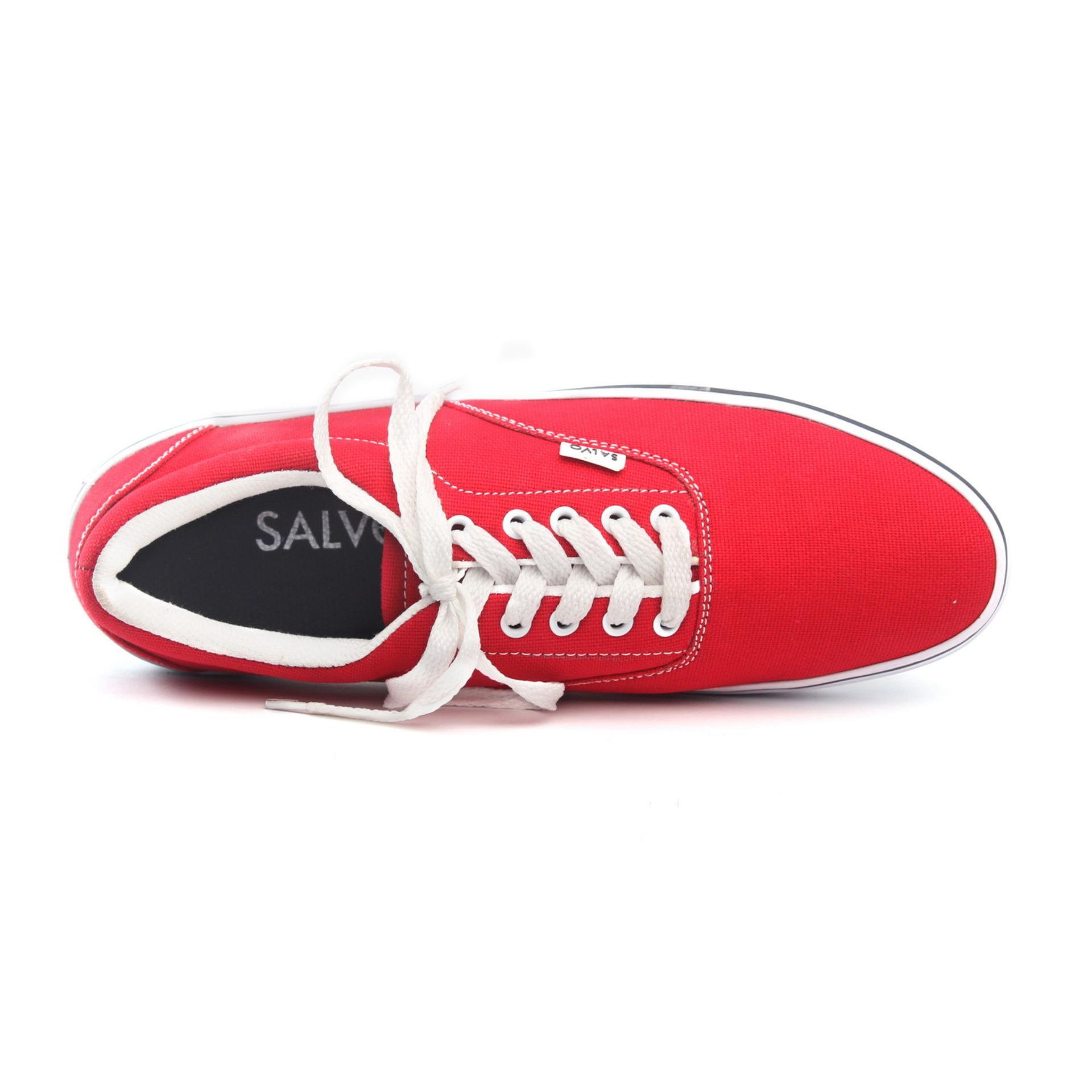 Salvo Sepatu Pria Sneaker Denim Coklat Daftar Harga Terkini Dan Kasual A03 Merah