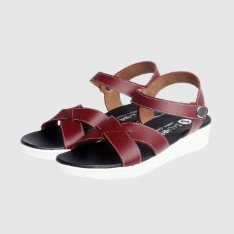 Salvora sandal kasual UT02-Merah Maroon - 3
