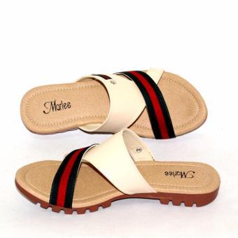 Sandal Flip Flat Wanita JJT-10 Cream