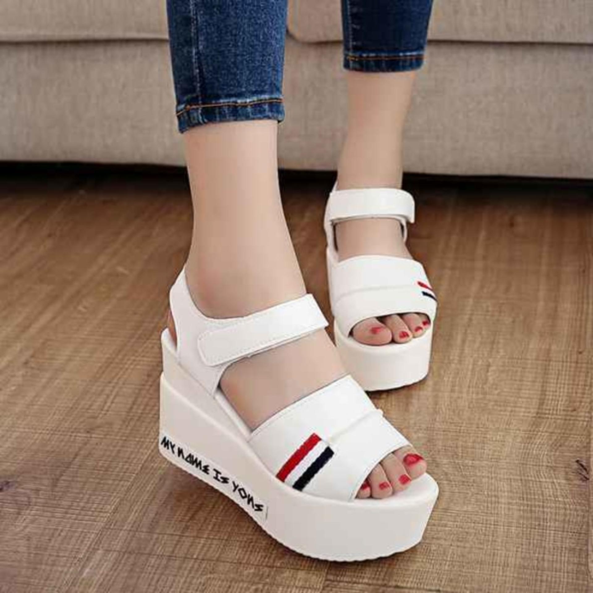 Sandal Sepatu Wedges Wanita Murah Mr81 Cream Daftar Harga Terbaik Zr01 Tan Model Terbaru Bunga Af13 Source Cewek